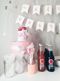 diy intimate small pink baby shower grace niu beauty and