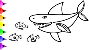 white shark coloring pages for kids u0026 art coloring book for baby