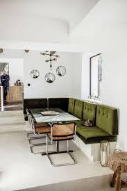 chez stéphanie ferret olive green banquette kitchenlove