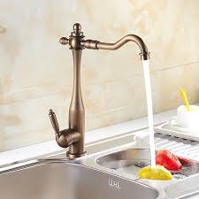 antique brass kitchen faucets inspired kitchen faucet antique brass finish at faucetsdeal com