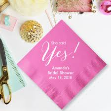 personalized wedding napkins she said yes personalized wedding napkins 25 pcs personalized
