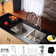 30 inch undermount double kitchen sink stainless steel kitchen sink combination kraususa com