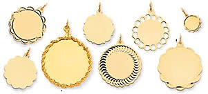 engraved charms 14k gold engraved charms