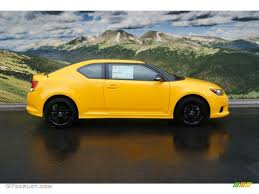 scion yellow high voltage yellow 2012 scion tc release series 7 0 exterior