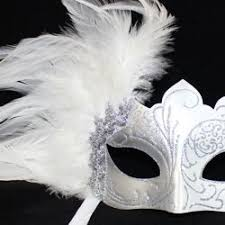 black and white masquerade mask venetian masks decorated with feathers