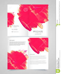 two page brochure template or flyer for business stock