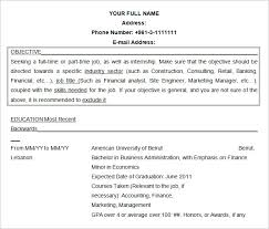 Example Resume For Internship by Resume Objectives U2013 46 Free Sample Example Format Download