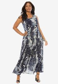 maxi dresses a line crinkle maxi dress plus size casual dresses roaman s