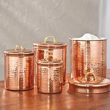 copper kitchen canisters vintage mirro aluminum copper canister set salt pepper bread box