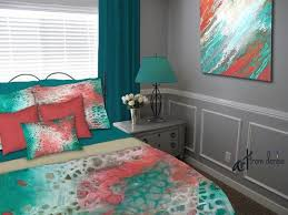 Turquoise And Coral Bedroom Best 25 Coral And Turquoise Bedding Ideas On Pinterest