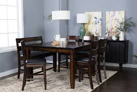 cherry dining room set rocco extension counter table living spaces