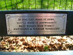 my favorite central park bench plaques a diary of a working mom