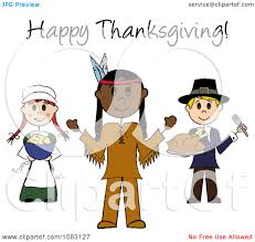 thanksgiving american clipart happy thanksgiving stick pilgrims and native american