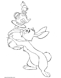 rabbit from winnie the pooh coloring pages