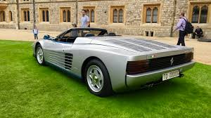 classic ferrari testarossa meet the world u0027s only ferrari testarossa spider