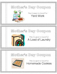 mother u0027s day coupon book template