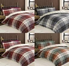 lomond tartan 100 brushed cotton flannelette reversible duvet