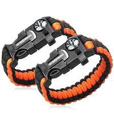 fire survival bracelet images 2pcs pack multifunctional paracord bracelet sahara sailor outdoor