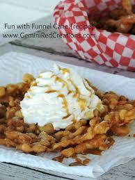 fun with funnel cake recipe geminired creations