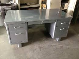 wood metal desk simple office table metal office furniture supplies