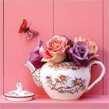 prints and posters teapot with roses and butterfly c soulayrol