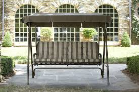 Oasis Outdoor Patio Furniture by 3 Seat Swing With Canopy Roselawnlutheran