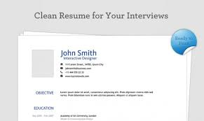 clean resume psd template psd file free download