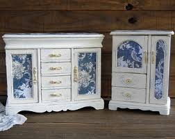 Shabby Chic Jewelry Armoire by Hand Painted Shabby Chic Home Decor U0026 By Thevintageartistry