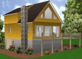 small cabin plans with basement 24x34 cabin w basement plans package blueprints material
