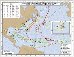 Hurricane Tracking Map Hurricane Tracks 1851 2017