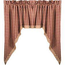 Lined Swag Curtains Checked Swags Ebay