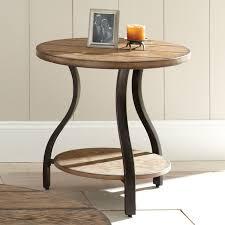 light wood end tables steve silver denise round light oak wood end table hayneedle