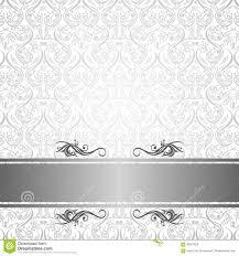 Cover Invitation Card Silver Batik Wallpaper Pattern Stock Illustration Image 60907822