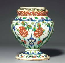 Ottoman Pottery An Iznik Pottery Flower Vase Ottoman Turkey Circa 1590 Christie S