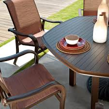 Telescope Furniture Replacement Slings by Telescope Casual Ocala 6 Person Sling Patio Dining Set With
