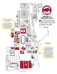 Lsu Parking Map Important Traffic U0026 Parking Update For Saturday Arkansas Razorbacks