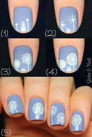 thanksgiving nail art tutorial top 25 best dandelion nail art ideas on pinterest nail desighns