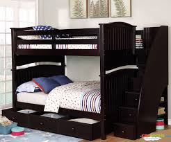 chelsea full over full bunk bed with stairs in espresso allen