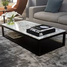 rectangular marble coffee table verona marble wood coffee table