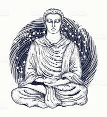 space buddha tattoo art religious symbol of harmony spirituality