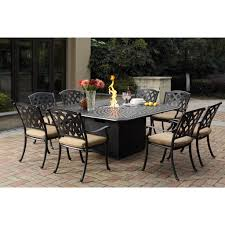 cast aluminum dining table furniture fire pit dining table luxury darlee ocean view cast