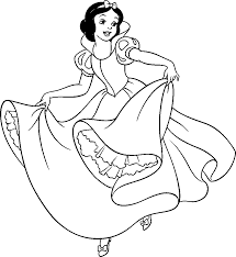 coloring pages of snow white funny coloring