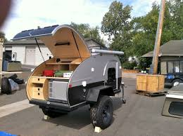 jeep camping trailer teardrop at overland