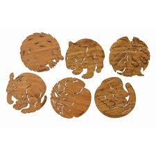 animal wood buttonworks australian animal coasters