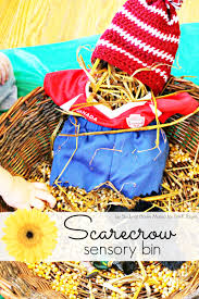 pre k thanksgiving songs scarecrow sensory bin