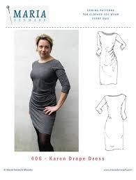 Draped Skirt Tutorial 406 Karen Drape Dress Sewing Pattern Mariadenmark Sewing
