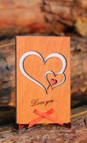 cards for him anniversary card wood cards gifts