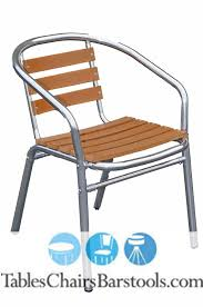 Coast Outdoor Furniture by Gulf Coast Collection Teak Inspired Poly Lumber Outdoor Chair With