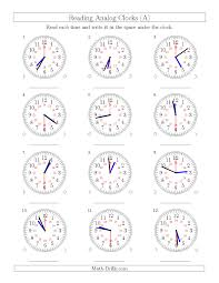 reading time on 24 hour analog clocks in 30 second intervals a