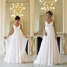 grecian style wedding dresses aliexpress buy style wedding dress v neck chiffon